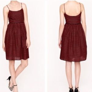 J Crew • Navy and Red Striped Sleeveless Dress